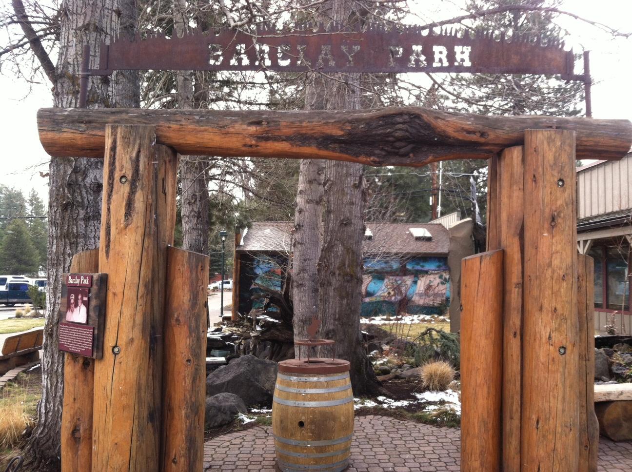 Barclay Park Timber Enterance