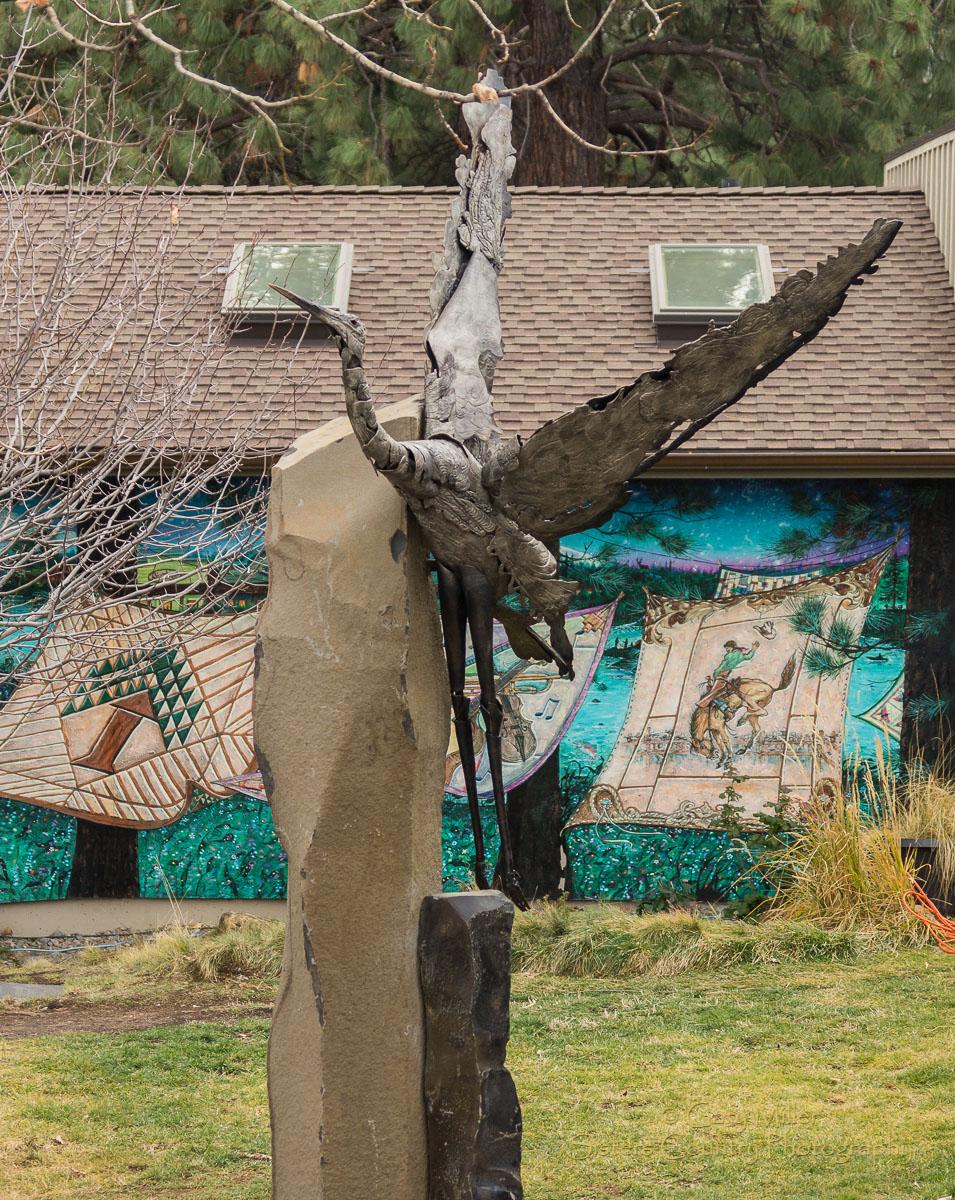 Heron Sculpture - Danae Miller (photo by Gary Miller)